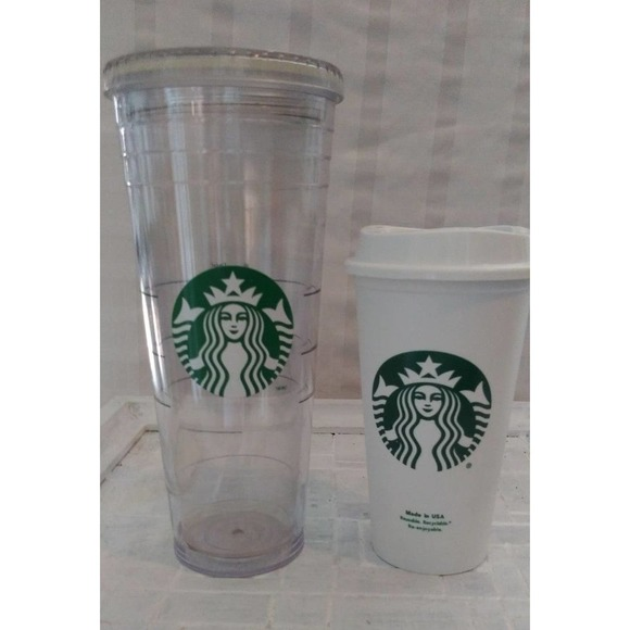 2 Pack Starbucks Signature Reusable Cups